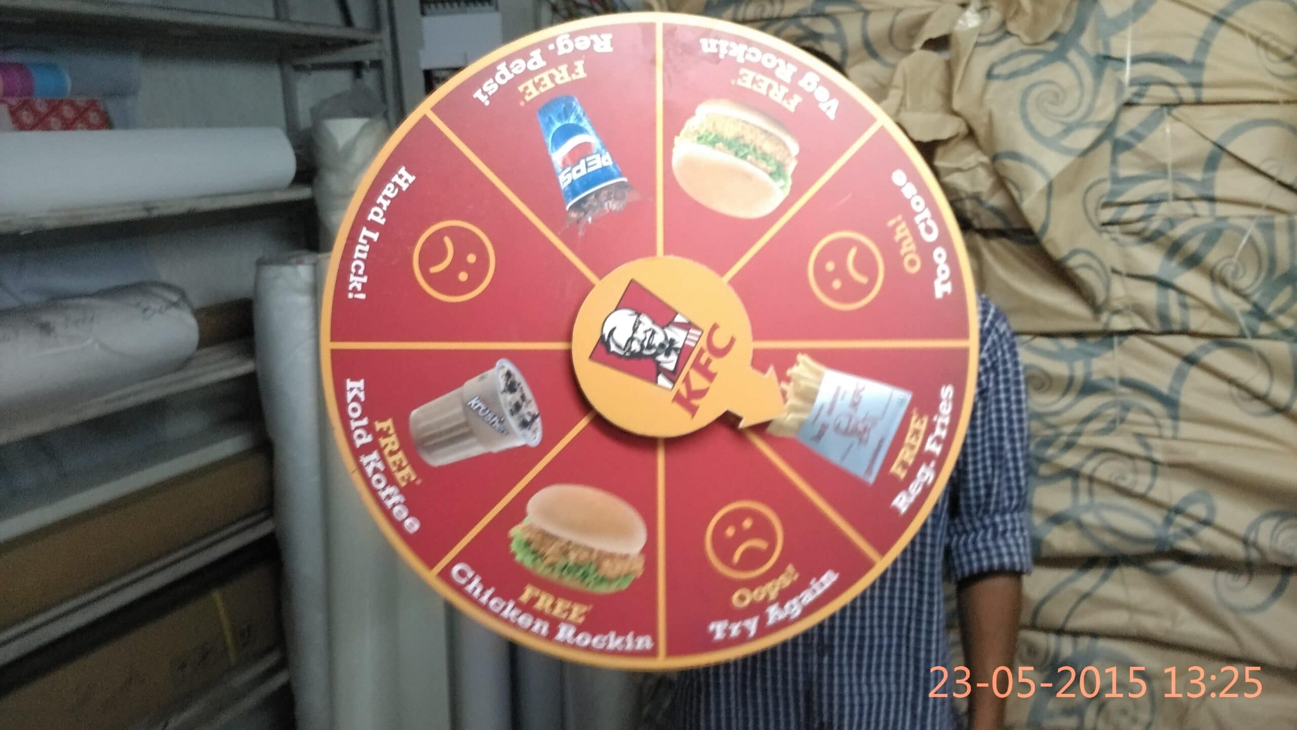 Personalised printed wheel of fortune as a great idea for a kitty party game