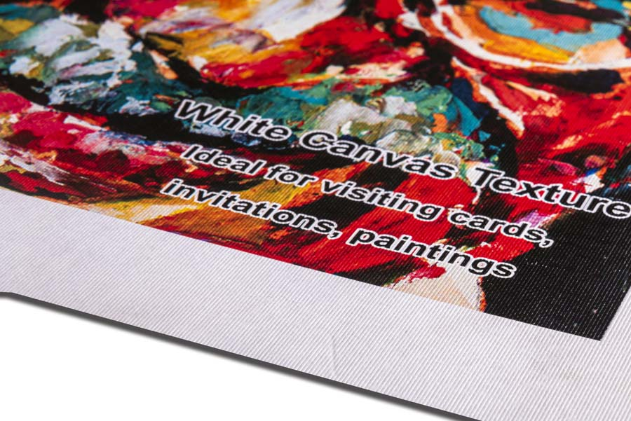 printing paper having a canvas like texture ideal for reproducing paintings and photographs